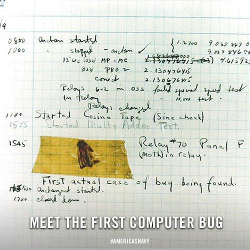 "1947: Grace Hopper & the First Computer ""Bug"""
