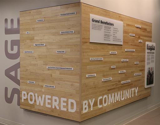 Sage Donor Wall