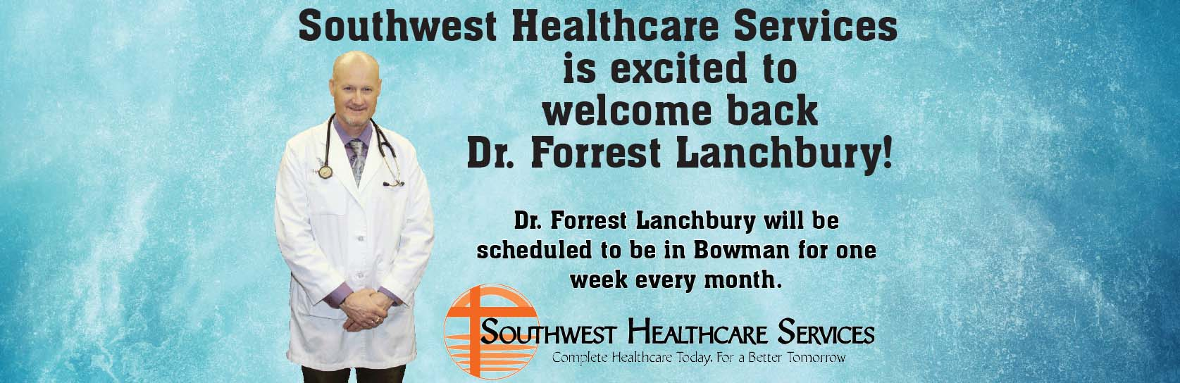 Dr. Lanchbury - Welcome