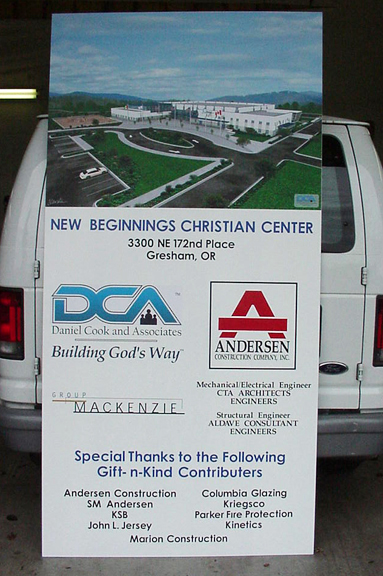 Anderson Construction Site Sign