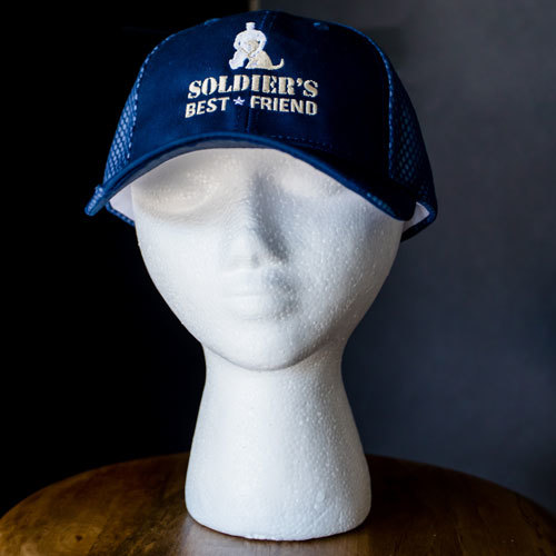 Navy & White Mesh Hat