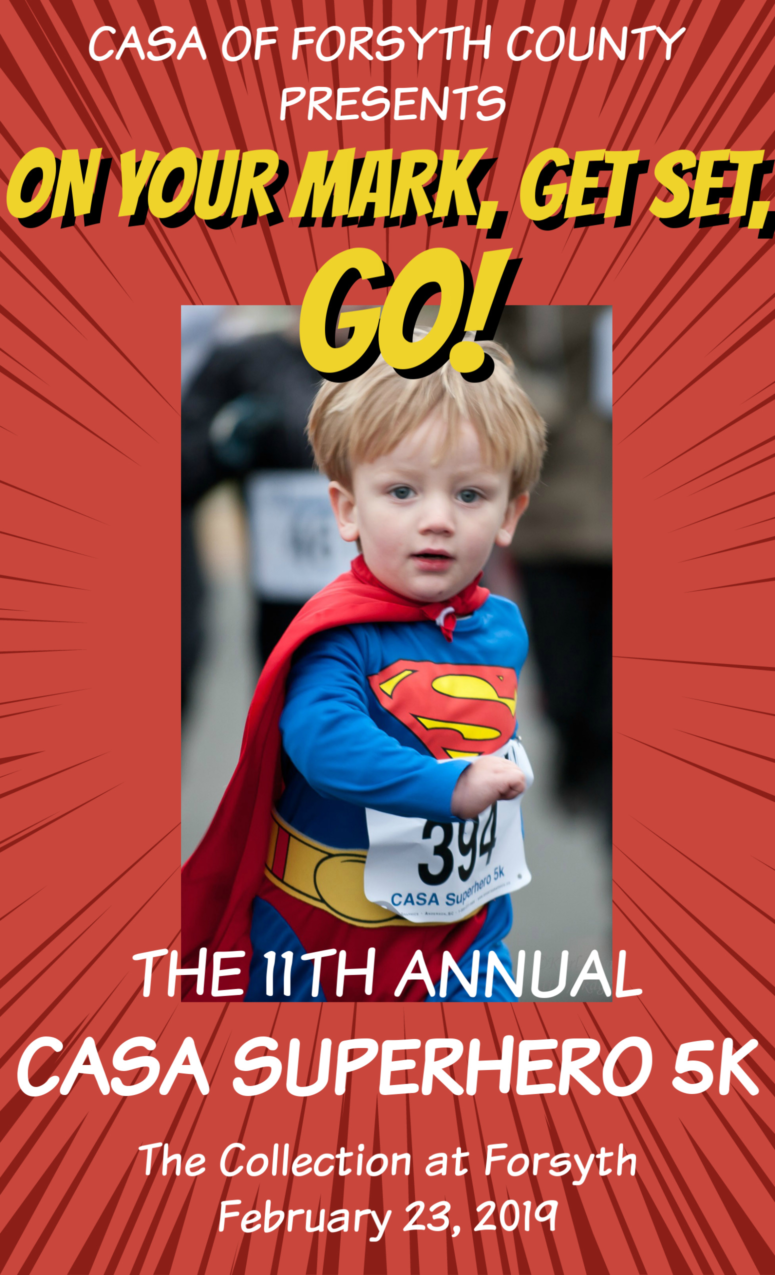 Be a SUPERHERO at our 2019 CASA Superhero 5k!