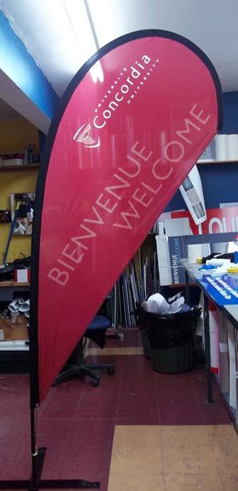 Concordia Teardrop flag