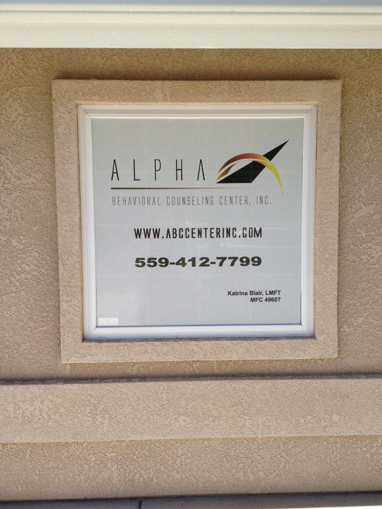 Perforated Vinyl on Window