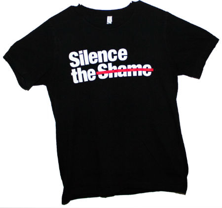 Silence the Shame Signature Black T-Shirt