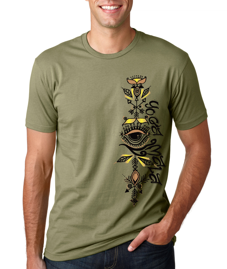 Yoga Mala Olive T-Shirt, Men's