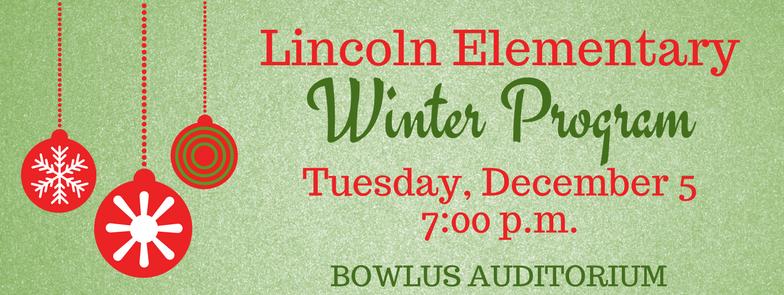 Lincoln - Dec. 5