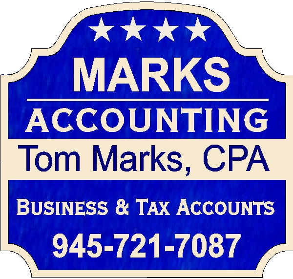 C12025 - Entrance Sign for Accounting & CPA Firm