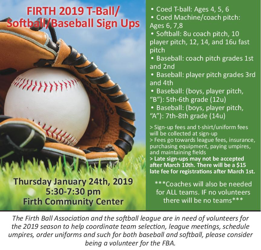 2019 Firth Ball signups