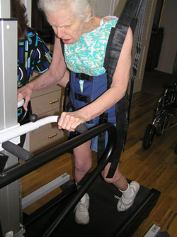 Jackie Myers on Treadmill in 2009