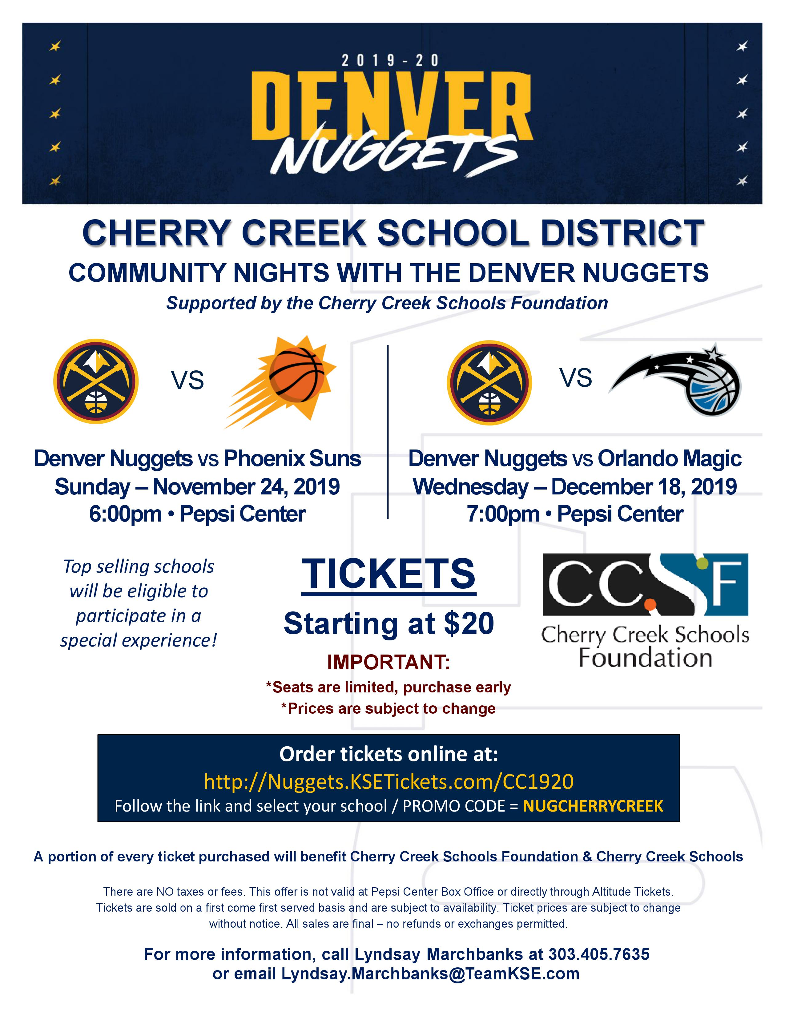 Denver Nuggets Community Nights