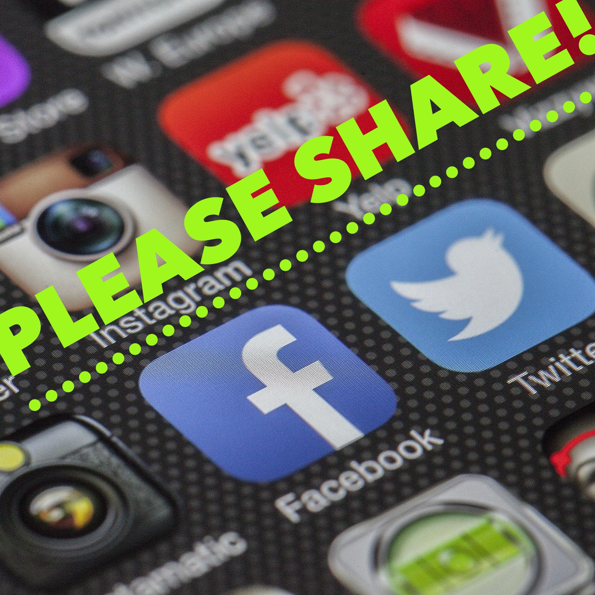 Social media share request