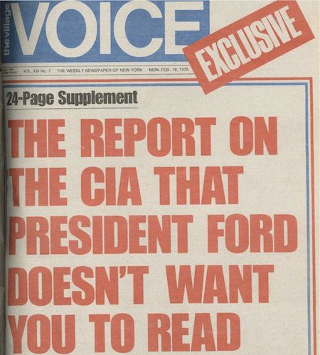 """1976: """"Village Voice"""" Published Full Pike Report"""