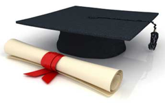 Graduate Hat and scroll Image