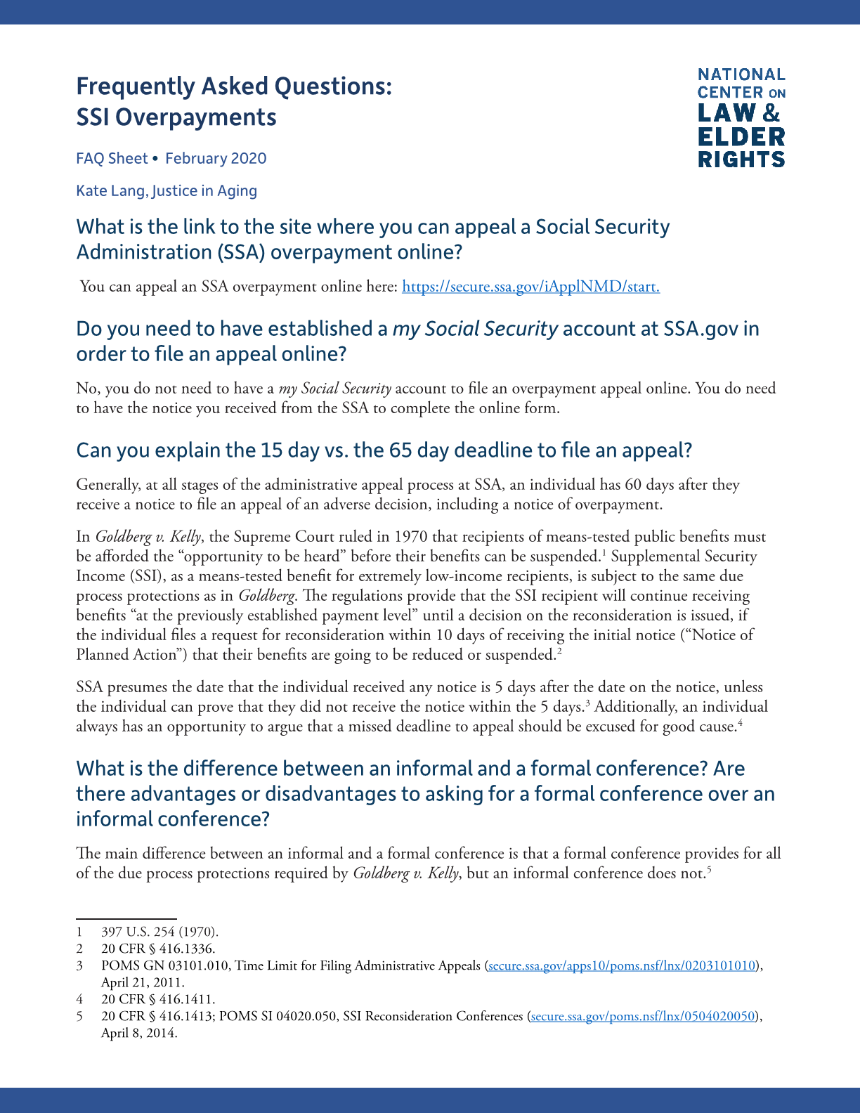 Frequently Asked Questions: SSI Overpayments