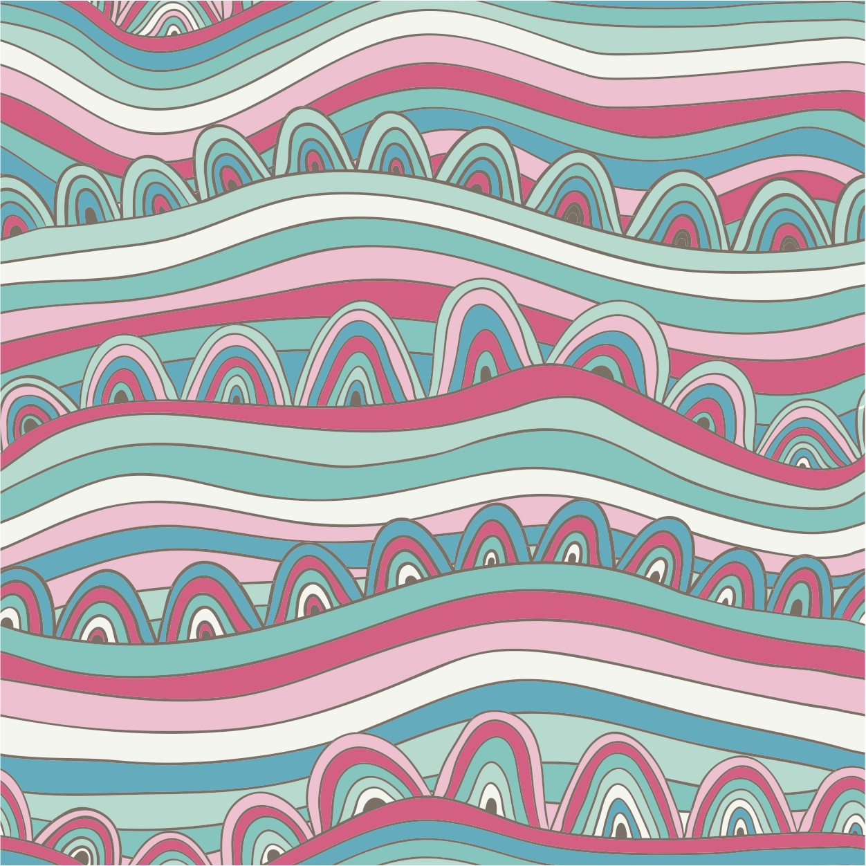 Pink and Blue Design Wallpaper