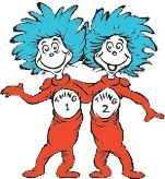This is a picture of thing 1 and thing 2