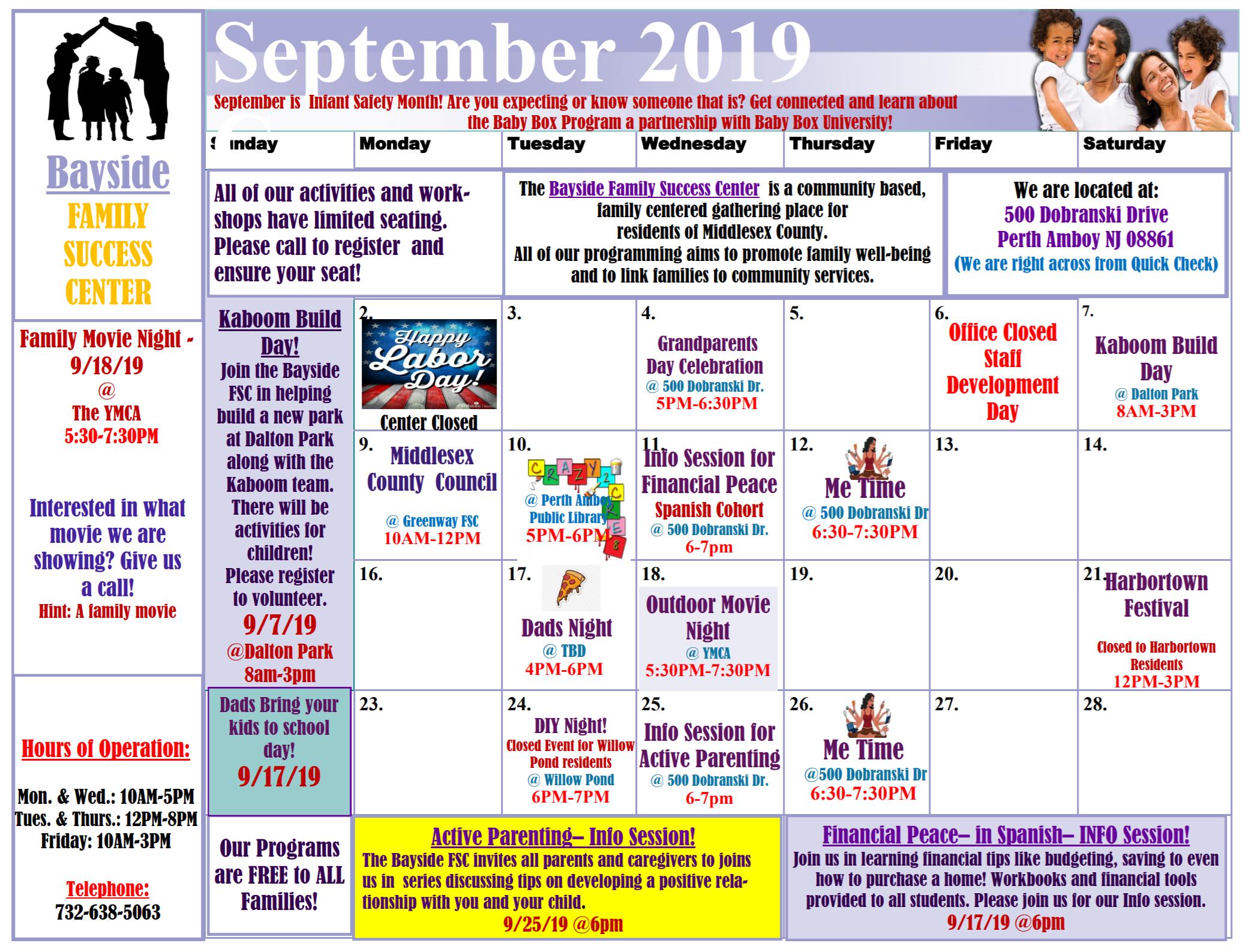 September FSC Calender