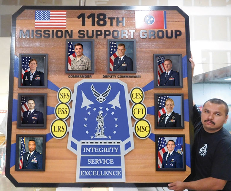 WP5180 -  Air Force 118th Mission Support Group Command Photo Plaque