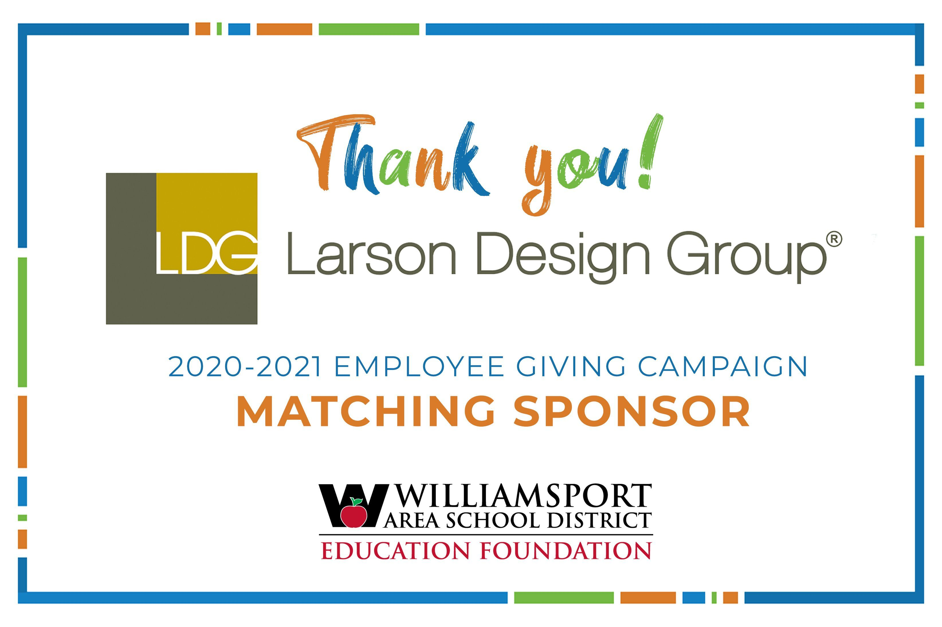 Larson Design Group Partners with WASD Education Foundation in 2020-21 Employee Giving Campaign