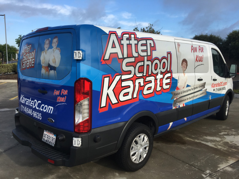 Van Wraps | Placentia CA | Karate Studio