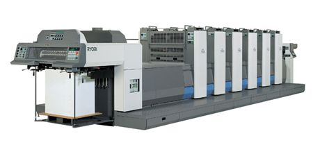 "Ryobi 755 - 5 Color + Aqueous Coater 23"" x 29"" Press"