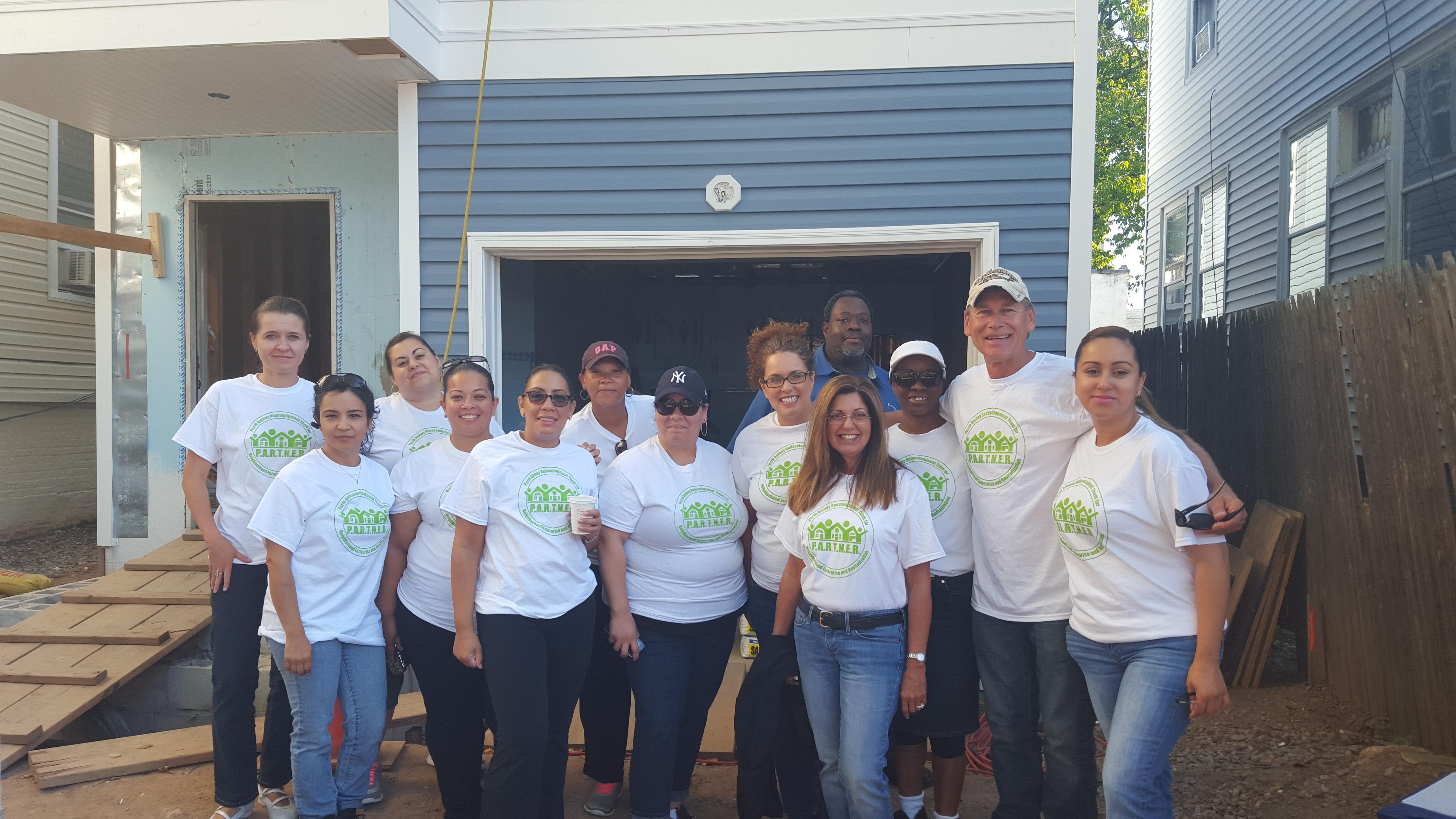 Housing Authority Staff Volunteer At Habitat Build