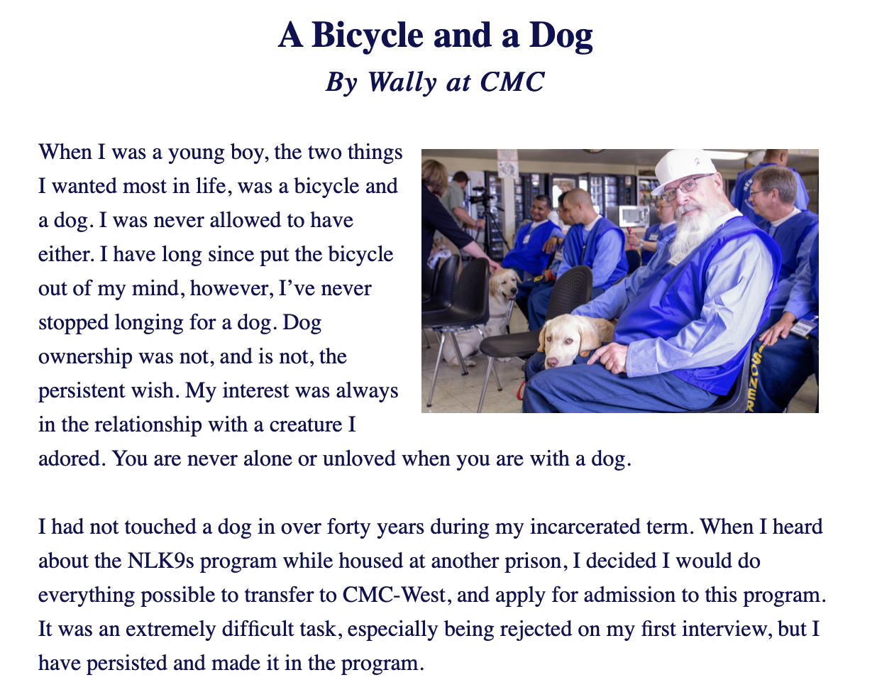 A Bicycle and a Dog