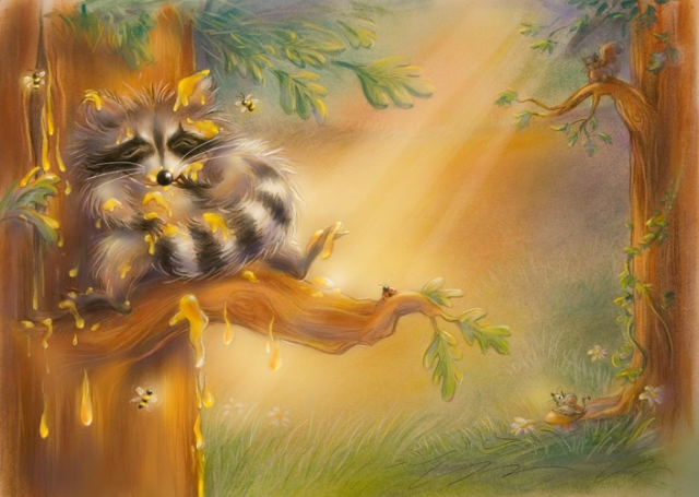 A Prairie Tale: The Raccoon and the Bee Tree