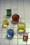 Beakers with Colored Liquid