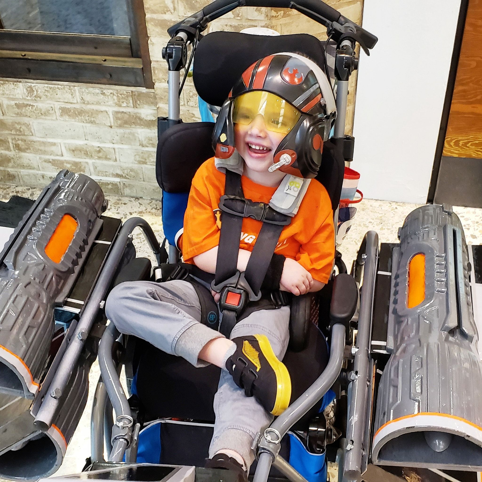 Nonprofit turns boy's wheelchair into X-Wing Halloween costume