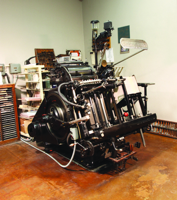Letterpress Department