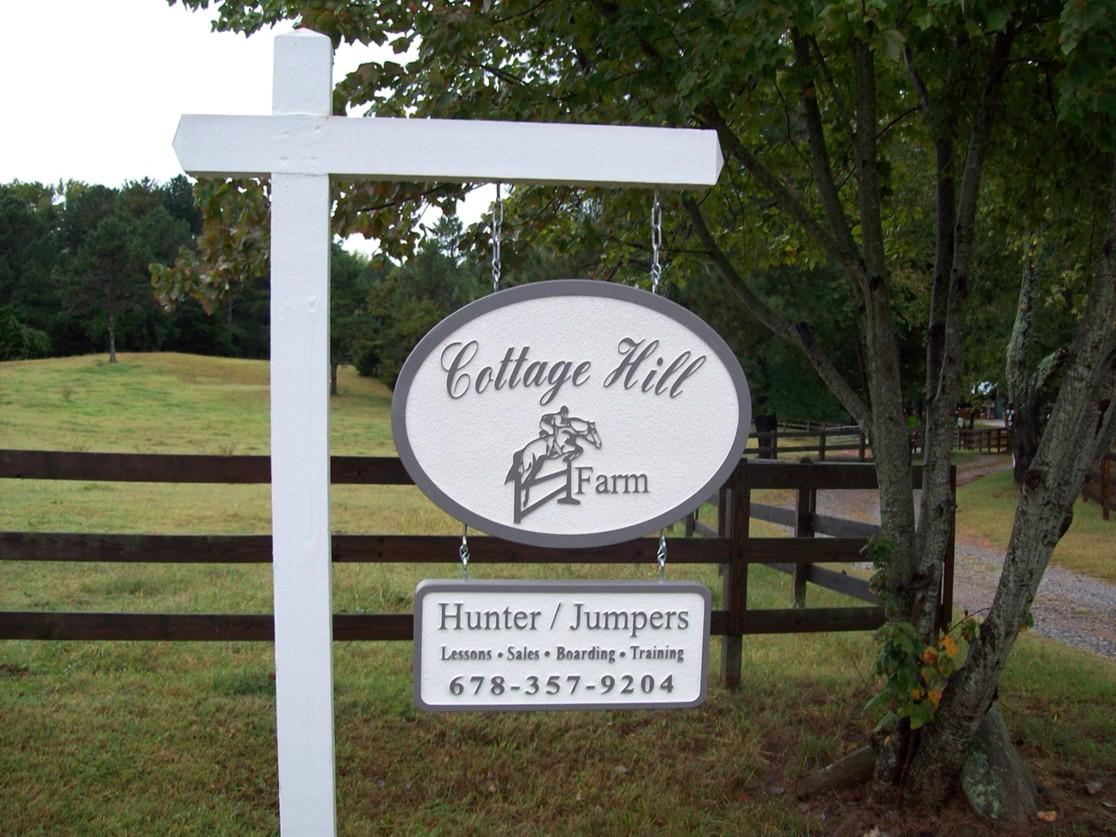 Cottage Hill Sandblasted Signs