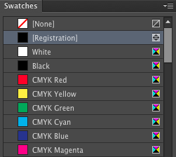 Registration Color Swatch