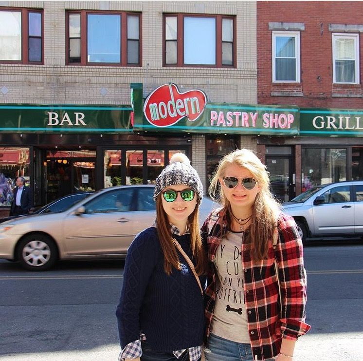 Picture of Clare Weigel and Bella Dunning in Boston