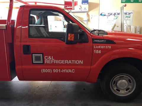 Contractor truck lettering Brea CA