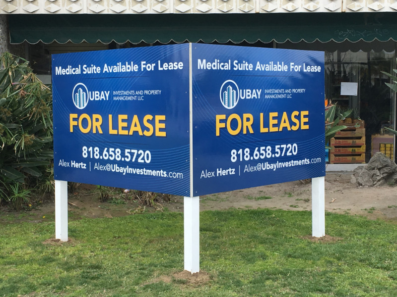 V-Shaped For Lease Signs