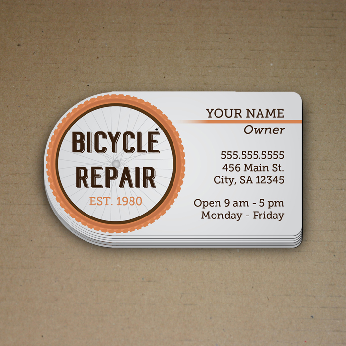 Business Card: 1 side, full color with die cut