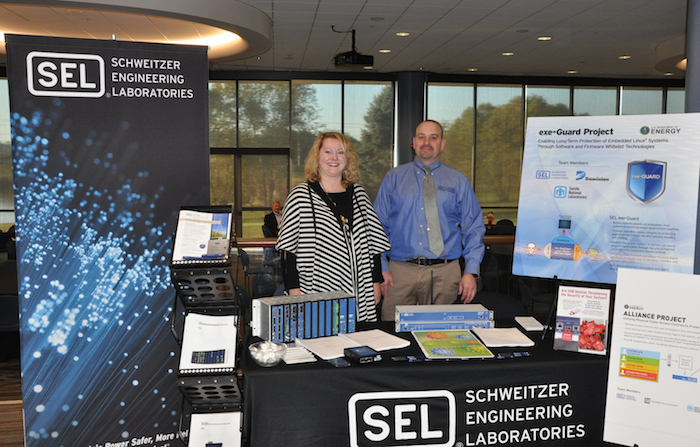 Sharla Artz & Dennis Gammel from Schweitzer Engineering Laboratories.