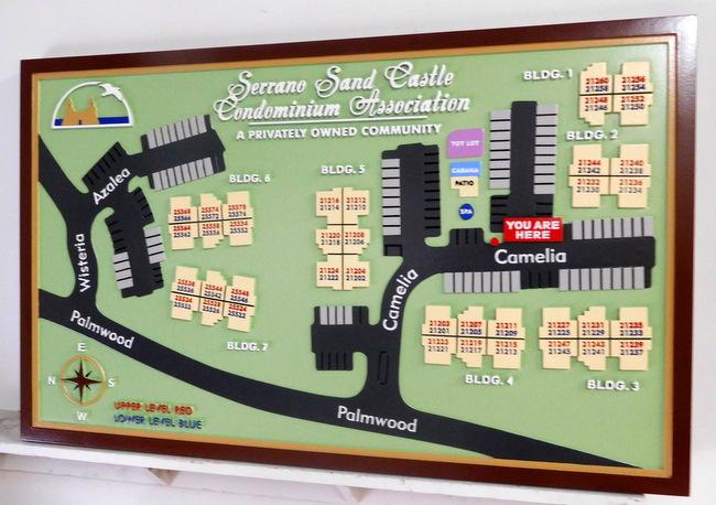 KA20798 - 3D Property Map for Serrano Sand Castle Condominium Association