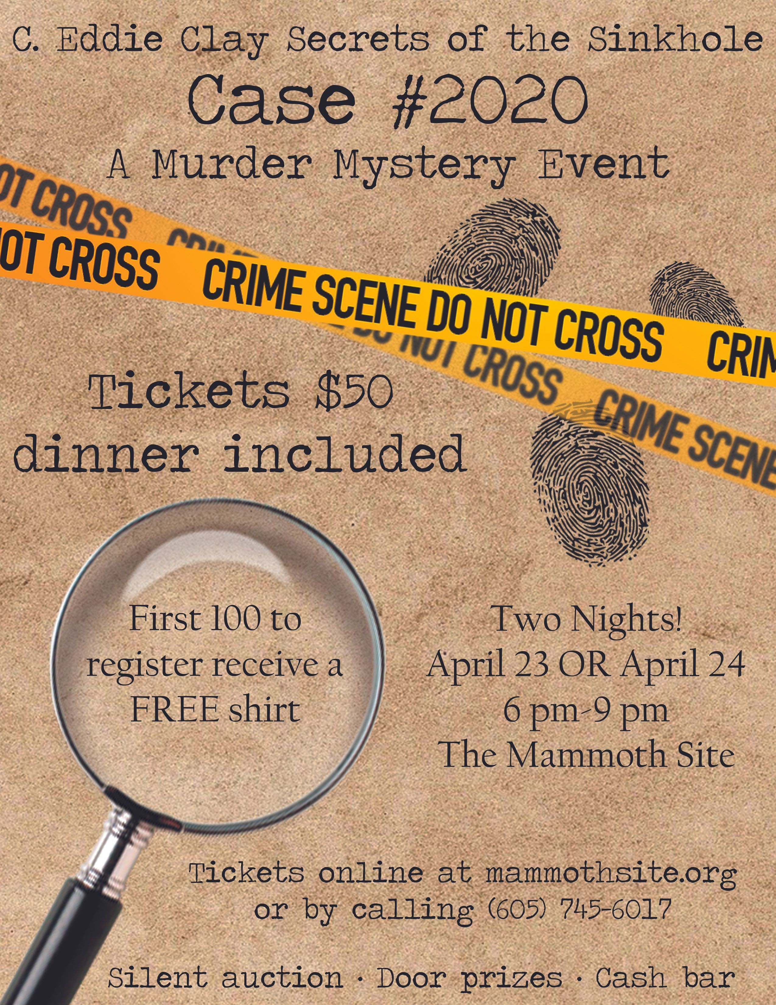 Purchase your Murder Mystery tickets now!