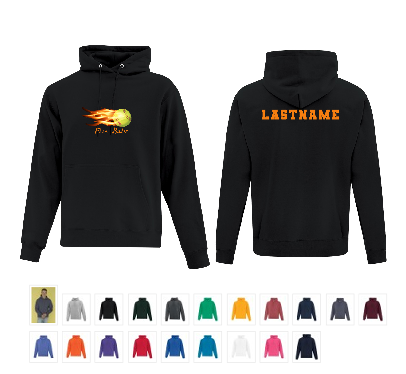 Team Hoodie with Last Name