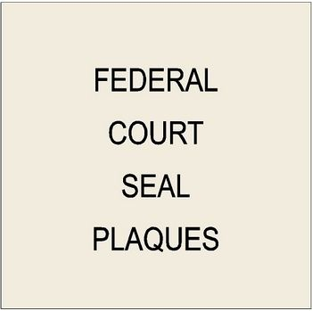 6. U30120 - US Federal Court (Supreme, Appeals, District, Bankruptcy, Tax) Custom Carved  3D Wood Wall Plaques