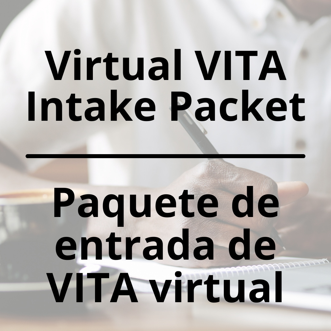 VITA Intake Packet - English and Español