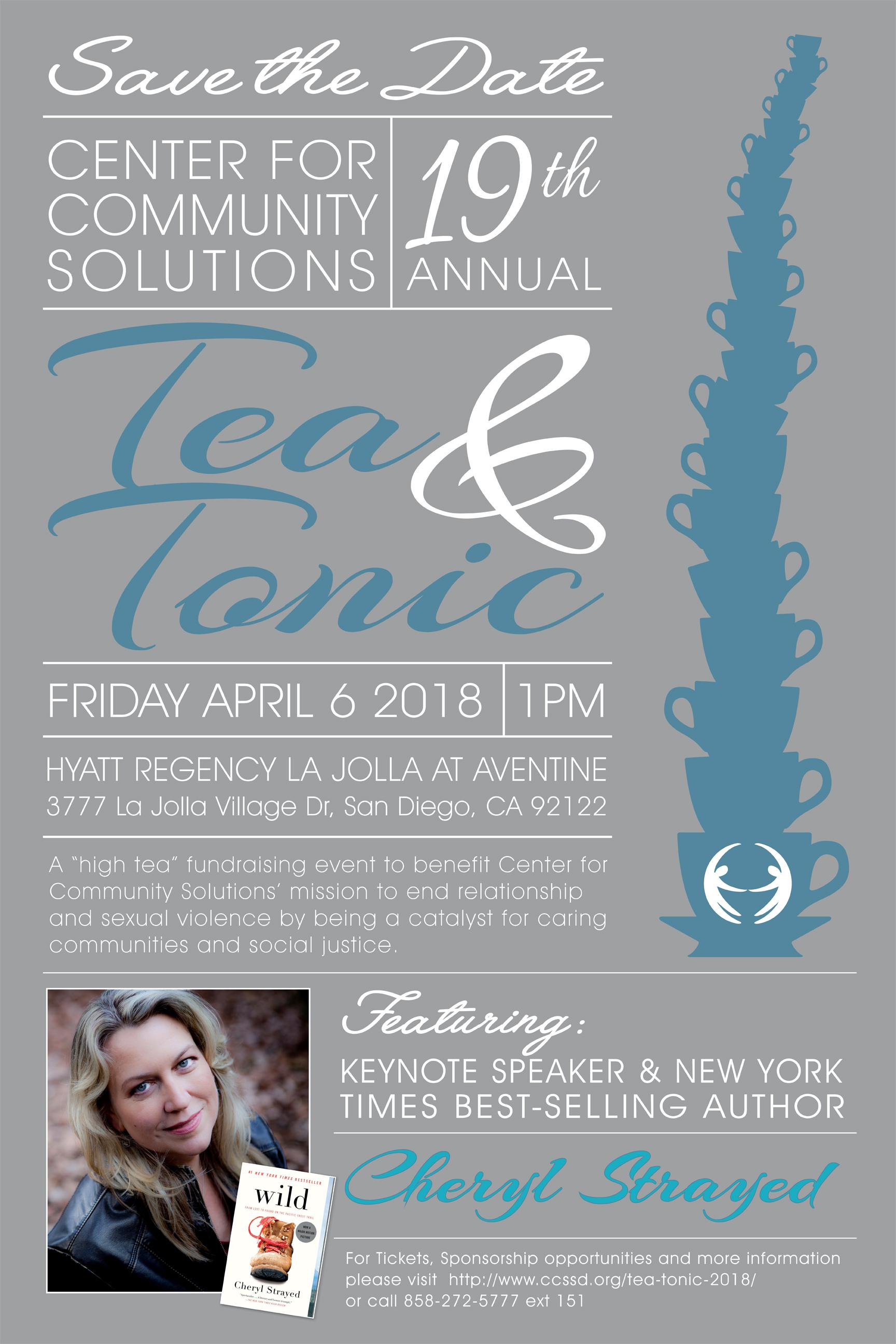 Tea & Tonic 2018 Keynote Speaker