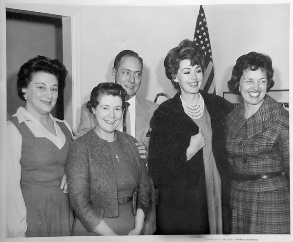 Actress Barbara Rush Visits Miller School During Fund Drive (1963)