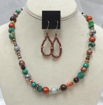 SD Chic Beads-Turquoise Copper Multi-Bead