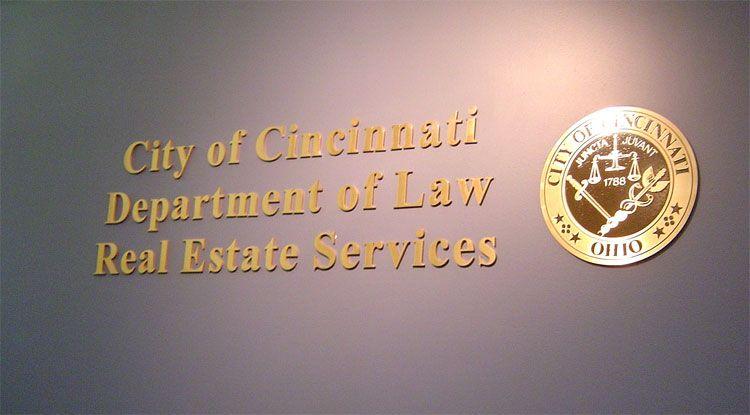 City of Cincinnati Solid Bronze Lettering/Logo