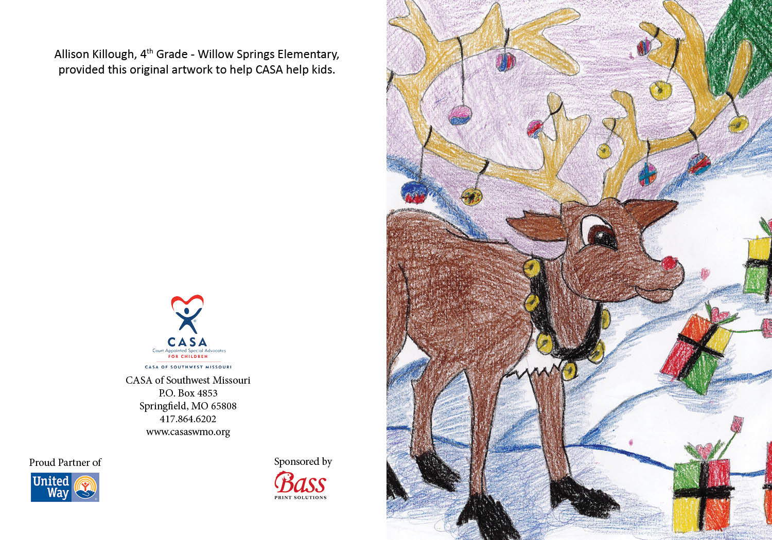 01 Deer with Presents - Allison Killough - 4th grade - Willow Springs Elementary