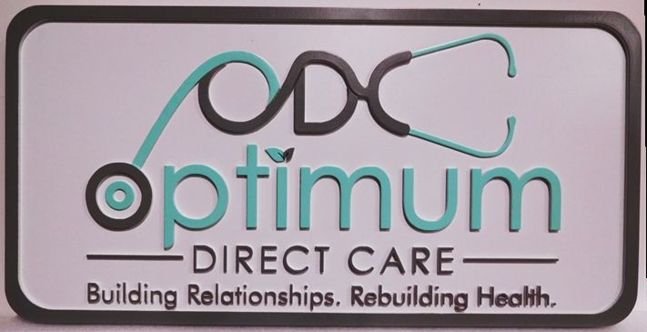 """B11086 - Carved  Sign for """"ODC Optimum Direct Care"""""""